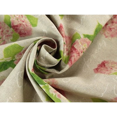 Canvas Hortensia Pink