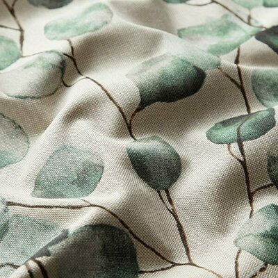 Canvas Linen Look Fabric - Eucalyptus Leaves