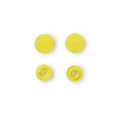 Capse rotunde din plastic - Yellow - pachet 30 buc