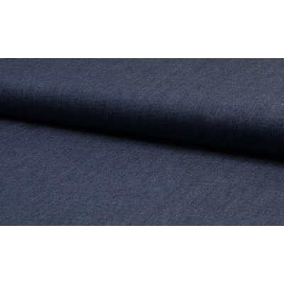 Cotton fabric - Chambrai Uni Dark Blue