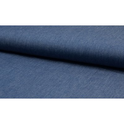 Cotton fabric - Chambrai Uni Washed Blue