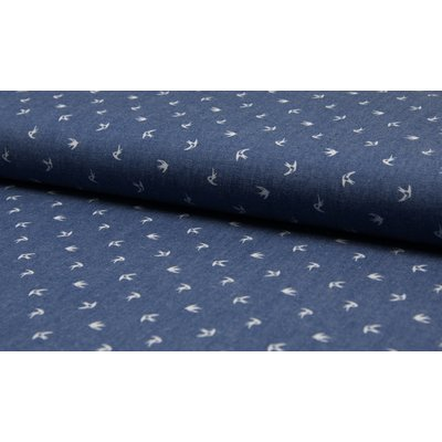 Cotton fabric - Chambray Birds