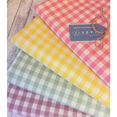 Cotton fabric - Gingham Yelow