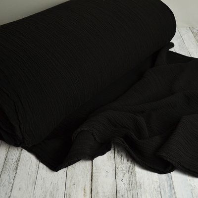 Cotton Gauze Anuca Black