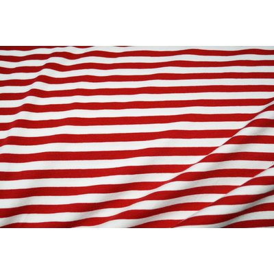 Cotton Jersey -Stripes Red 1cm