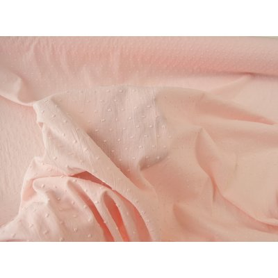 Cotton voile fabric - Plumetis Blush