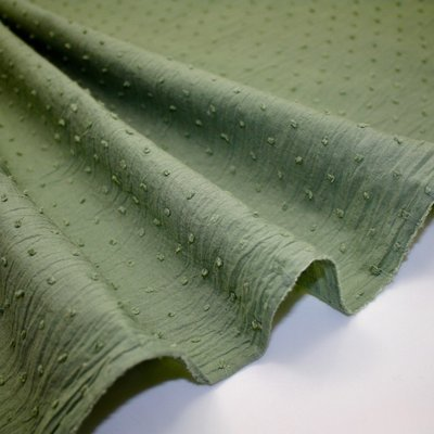 Cotton voile fabric - Plumetis Khaki