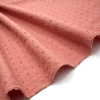 Cotton voile fabric - Plumetis Marsala