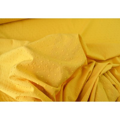 Cotton voile fabric - Plumetis Ocre