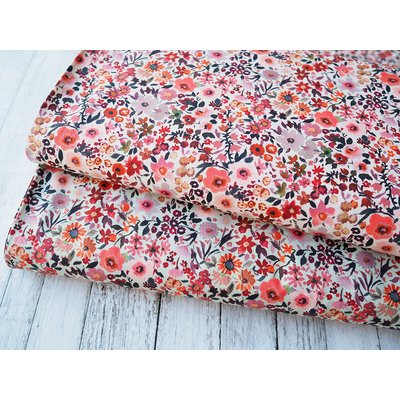 Digital Printed Cotton - Fleur Ecru