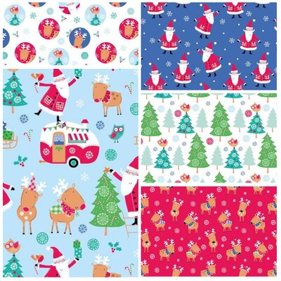 Fat Quarter Set - Santa & Reindeer