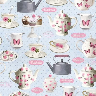 Fat Quarter - Tea Party- 45x45 cm