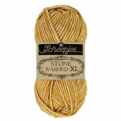 Fir bumbac melanj Stone Washed XL - Yellow Jasper 849