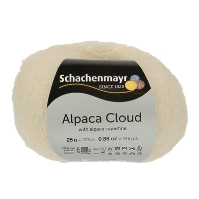 Fir de tricotat Alpaca Cloud - Snow white 00001