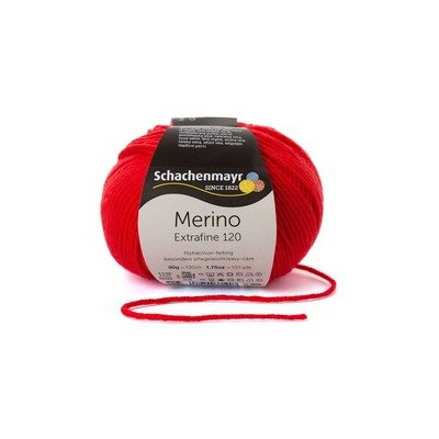 Fire lana - Merino Extrafine 120 Scarlet 00130