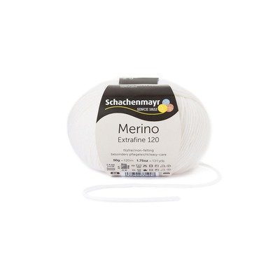 Fire lana - Merino Extrafine 120 White 00101