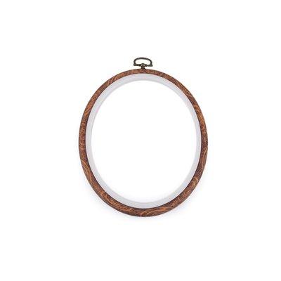 Gherghef oval pentru broderie - 13.5 x 17.5 cm