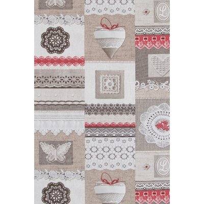 Home Decor - Shabby Chic Lace Red