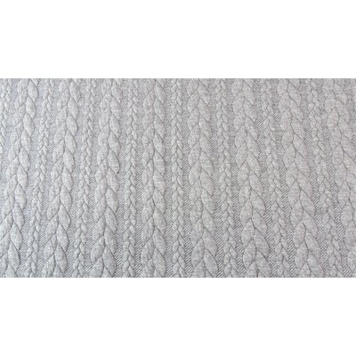 Jacquard Cable Knit - Light Grey
