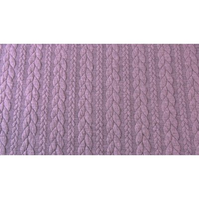 Jacquard Cable Knit - Old Rose