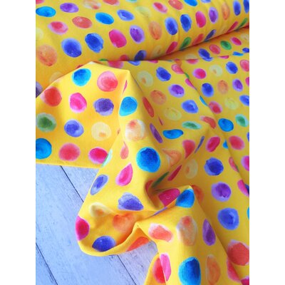 Jerse Bumbac digital - Graphic Dots Yellow
