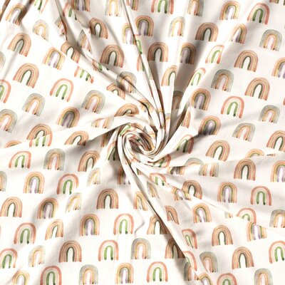 Jerse bumbac digital print - Macrame Rainbows