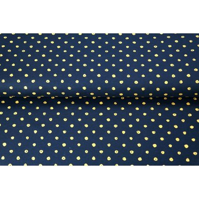 Jerse Bumbac - Dots Black - Yellow