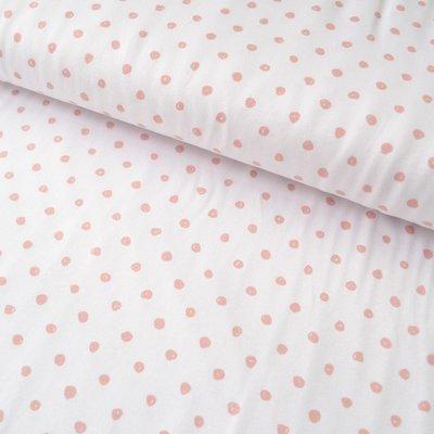 Jerse Bumbac - Dots Salmon / White