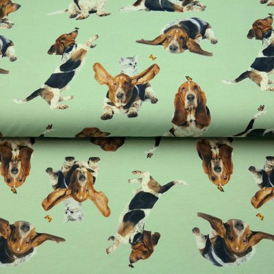 Jerse Bumbac imprimat digital - Beagle Mint