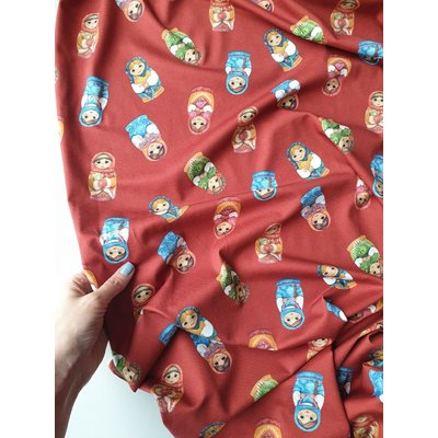 Jerse Bumbac imprimat digital - Matryoshka Red