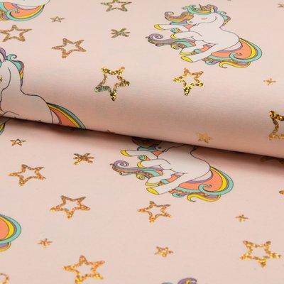 Jerse Bumbac imprimat - Glitter Unicorn Rose