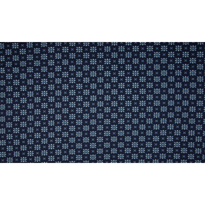 Jerse Bumbac imprimat - Graphic Flowers Navy