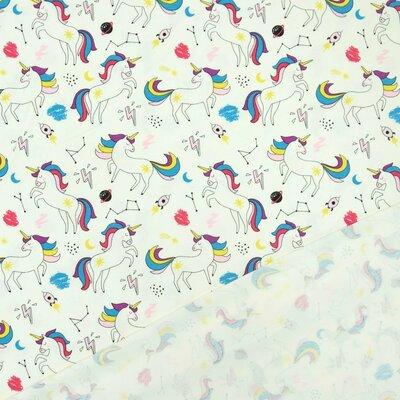 Jerse Bumbac imprimat - Unicorn Ivory