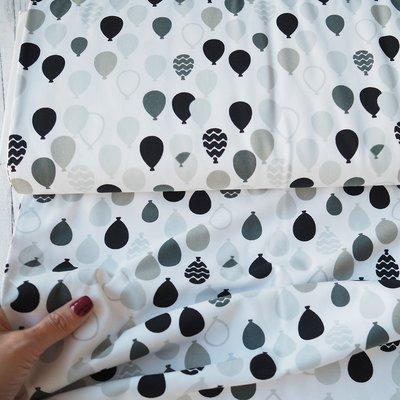 Jerse Bumbac organic - Balloons B&W