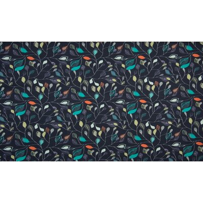 Jerse Bumbac Organic - Leaves Navy