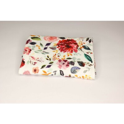 Jerse Bumbac organic - Painted Flowers White