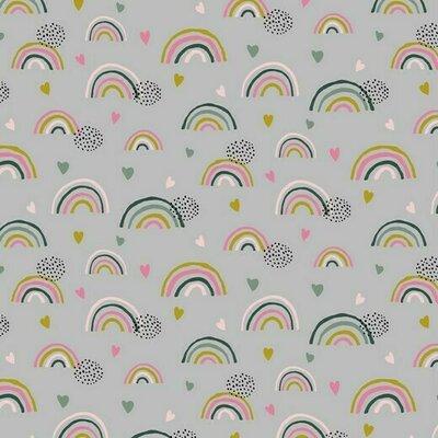 Jerse Bumbac organic - Rainbow Grey