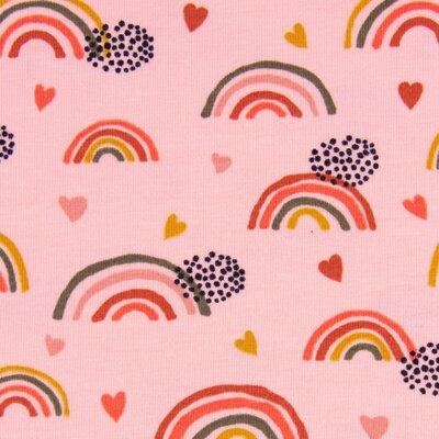 Jerse Bumbac organic - Rainbow Rose