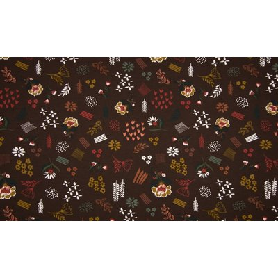 Jerse de bumbac - Flowers Brown