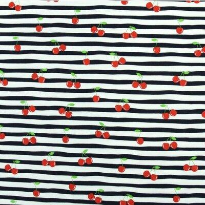 Jerse de bumbac imprimat - Cherry Stripe