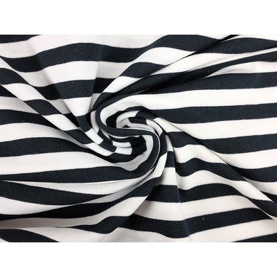 Jerse de bumbac -Stripes Black 1cm