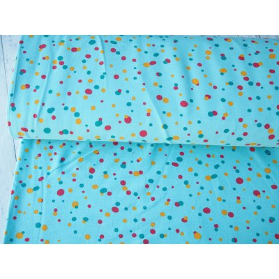 Jerse french terry - Boho Dots Turquoise