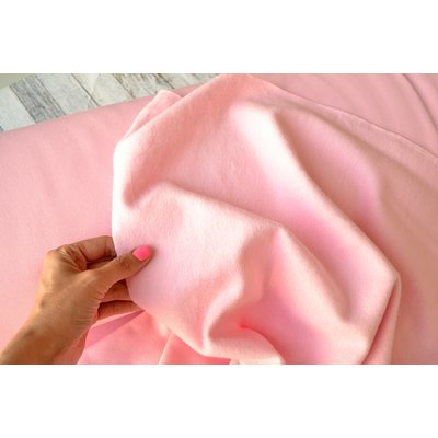 Jerse french terry brushed - Rose