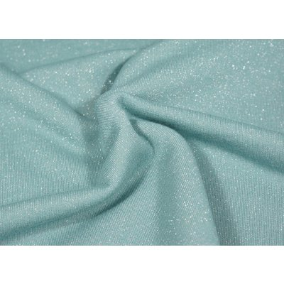 Jerse french terry Glitter - Dusty Mint