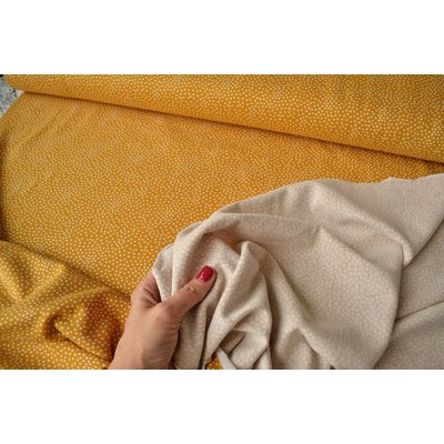 Jerse french terry - Tiny Dots Ocre