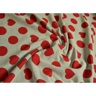 Jerse gros French Terry - Dots'n Hearts