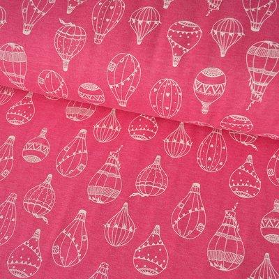 Jerse gros plusat - Balloons Pink