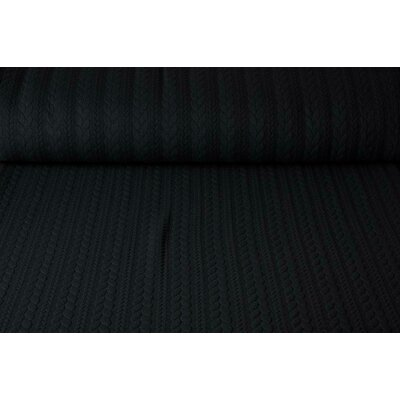 Jerse Jacquard Cable Knit - Black