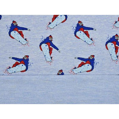 Jerse Sweat Melange - Snowboarders Blue