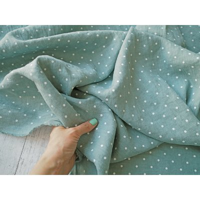 Material 100% In imprimat - Mini Dots Mint
